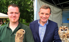 David Jones at North Wales Owl Sanctuary, Rhuthun Carnival