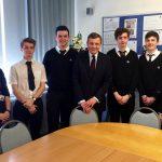 David Jones MP visiting Eirias High School / David Jones AS yn ymweld ag Ysgol Eirias
