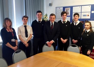 David Jones MP visiting Eirias High School / David Jones AS yn ymweld ag Ysgol Eirias