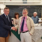 David Jones MP attending the opening of Llandegla Community Shop / David Jones AS yn mynychu agoriad Siop Gymundol Llandegla