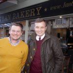 David Jones visiting the Tan y Lan Bakery / David Jones AS yn ymweld â phopty Tan y Lan
